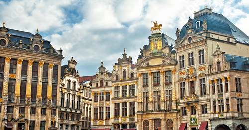 Foto op Canvas Brussel Grand Place or Grote Markt in Brussels. Belgium