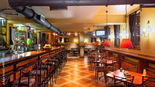 Fotobehang Restaurant Pub interior