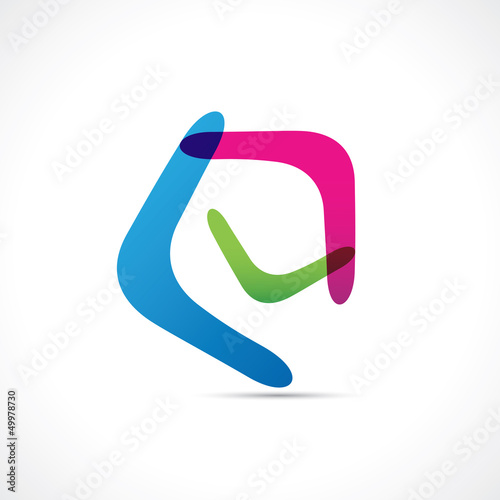 Logo boomerang couleur Canvas Print