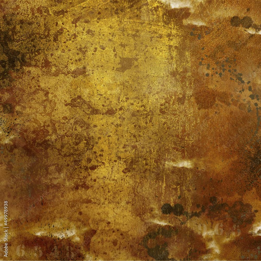 Fototapety, obrazy: Fond grunge doré