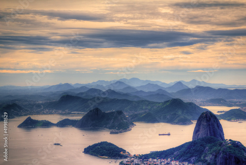 Photo  View on Sugarloaf Moutain in Rio de Janeiro