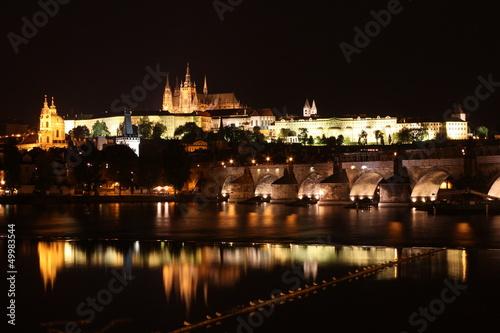 Charles Bridge with Prague Castle Canvas Print