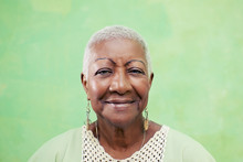 Portrait Of Senior Black Woman...