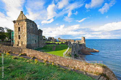 Ruins of St Andrews Castle Canvas Print