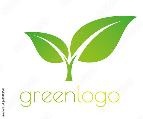 Green logo Fototapeta