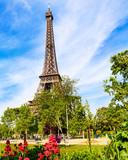 Fototapeta Wieża Eiffla - Spring Eiffel Tower