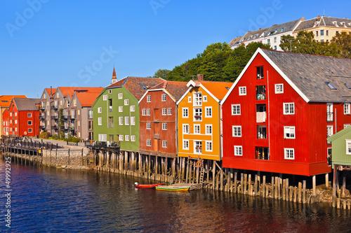 Fotografie, Obraz  Cityscape of Trondheim, Norway
