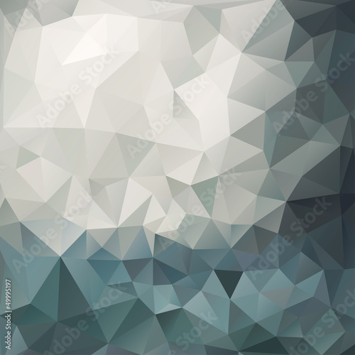 Fotografie, Obraz  Abstract triangle background