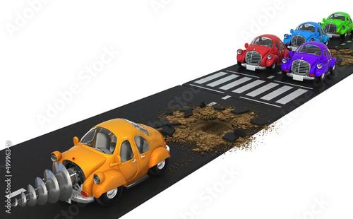 Foto op Canvas Cars Car Dig