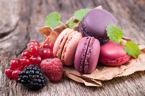 Macarons, Waldfrucht