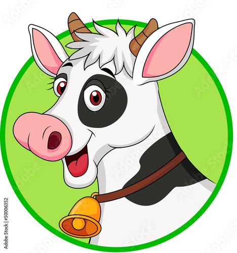 Poster Ranch Cute cow cartoon