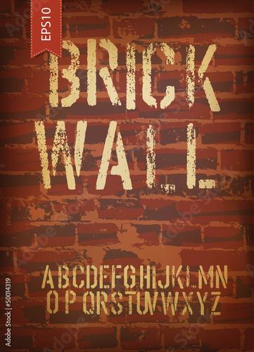 Papiers peints Affiche vintage Brick wall design template. Vector, EPS10