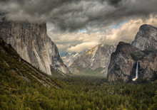 Stormy Clouds Over Tunnel View...
