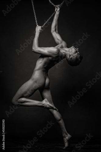 Photo sur Toile Gymnastique Nude model