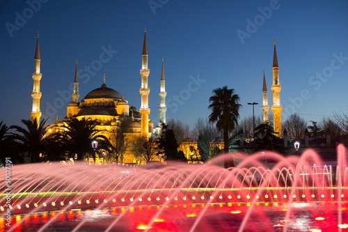 Photo  Blue Mosque at the istanbul Turkey
