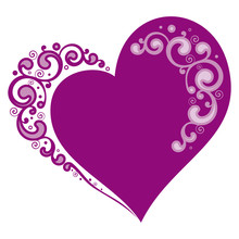 Stylized Heart For Valentine's...