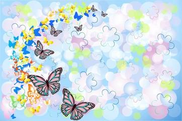 Naklejkatło z motylami