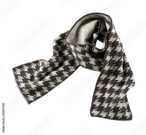 Photo  Grey houndstooth check scarf