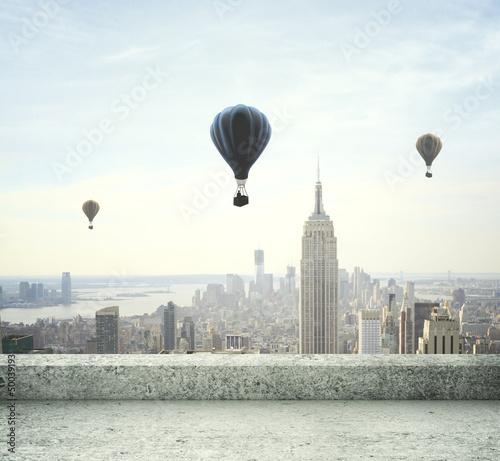 balony-latajace-nad-miastem