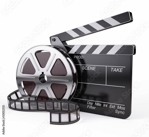 Photo  Film and Clapper board - video icon