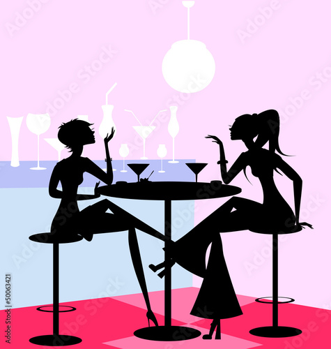 girls in the cafe - 50063421