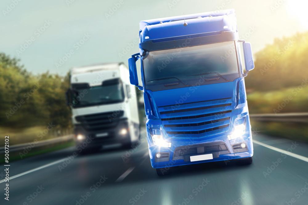 Fototapety, obrazy: Blue Truck