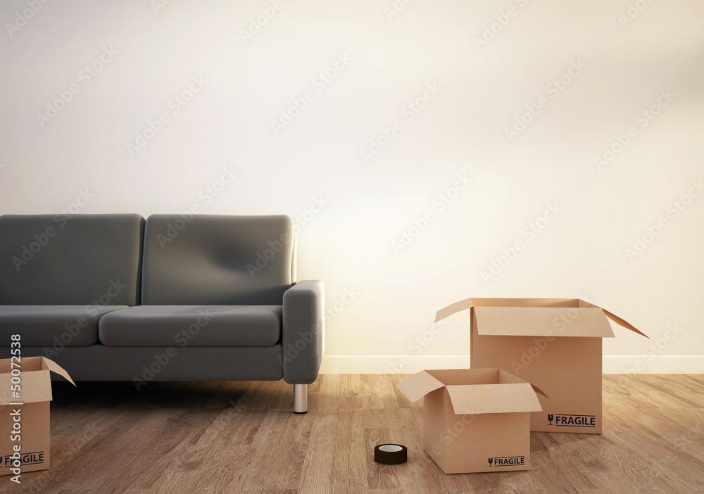Fototapety, obrazy: déménagement 2