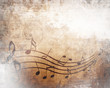 canvas print picture - Old music sheet