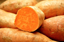Close-Up Of A Sweet Potato Cut...