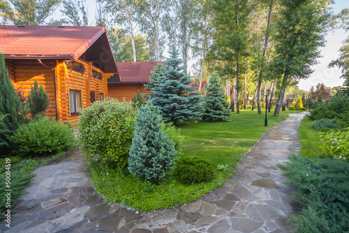 Valokuva  Holiday apartment - wooden cottage in forest
