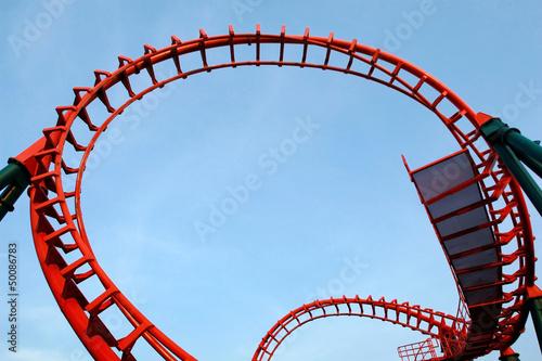 Papiers peints Attraction parc A segment of a roller coaster