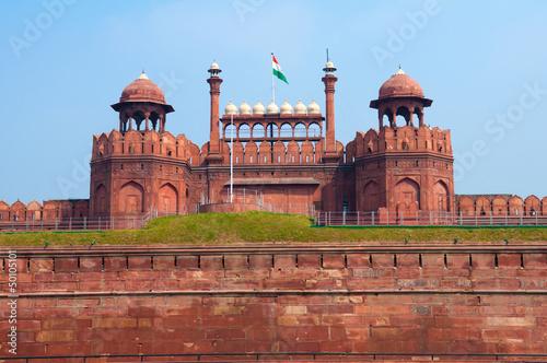Autocollant pour porte Delhi Red Fort of New Delhi, India