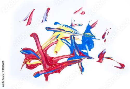 Deurstickers Geometrische dieren acrilic paints