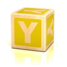 Letter Y Alphabet Cubes Font