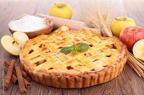 Photo  gourmet apple pie