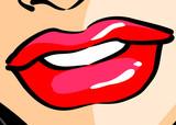 Woman Lips - Comic
