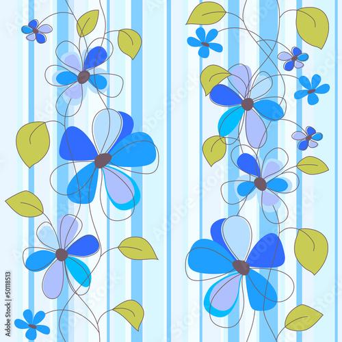Tuinposter Abstract bloemen seamless flowers
