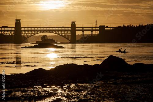 Sunset and Brittania Bridge
