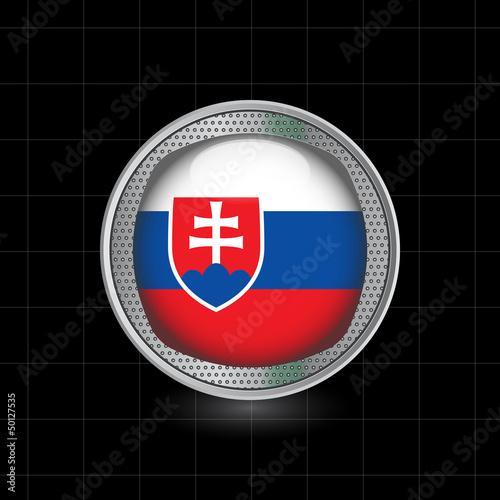 Photo  Metallbutton Flagge Slowakei