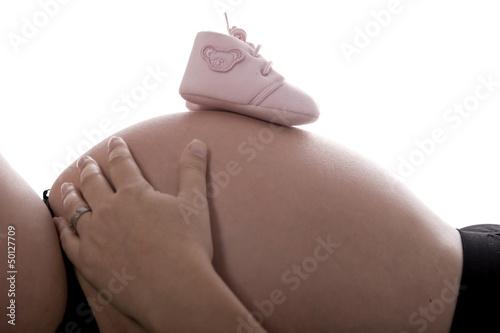 Fotografía  Vientre mujer embarazada