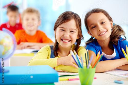 Obraz na plátne Diligent pupils