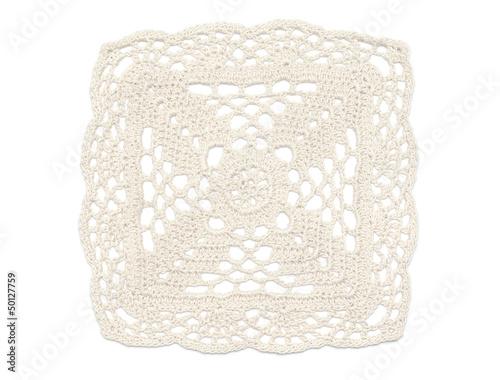 Crochet Doily - White Canvas-taulu