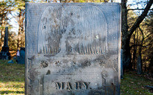 Willow And Urn Motifs On Mary'...