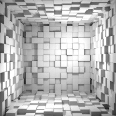 Obraz na SzkleCube room 3d - background
