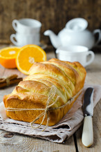 Brioche With Orange Glaze