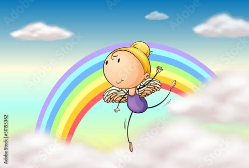 In de dag Regenboog An angel in the rainbow
