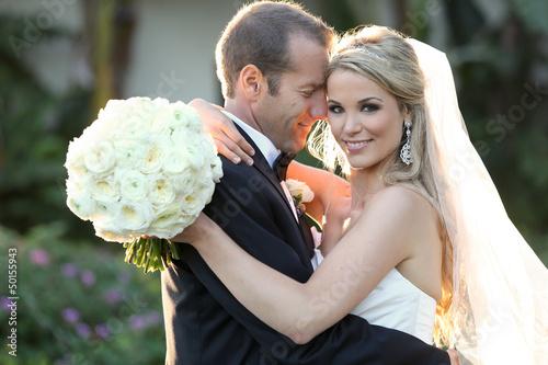 Fotografie, Obraz  Bride and groom