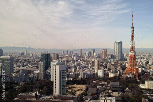 Fotobehang Tokyo 東京の街並み