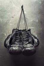 Old Boxing Gloves Hang On Nail