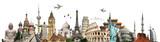 Fototapeta Nowy Jork - Travel the world monuments concept